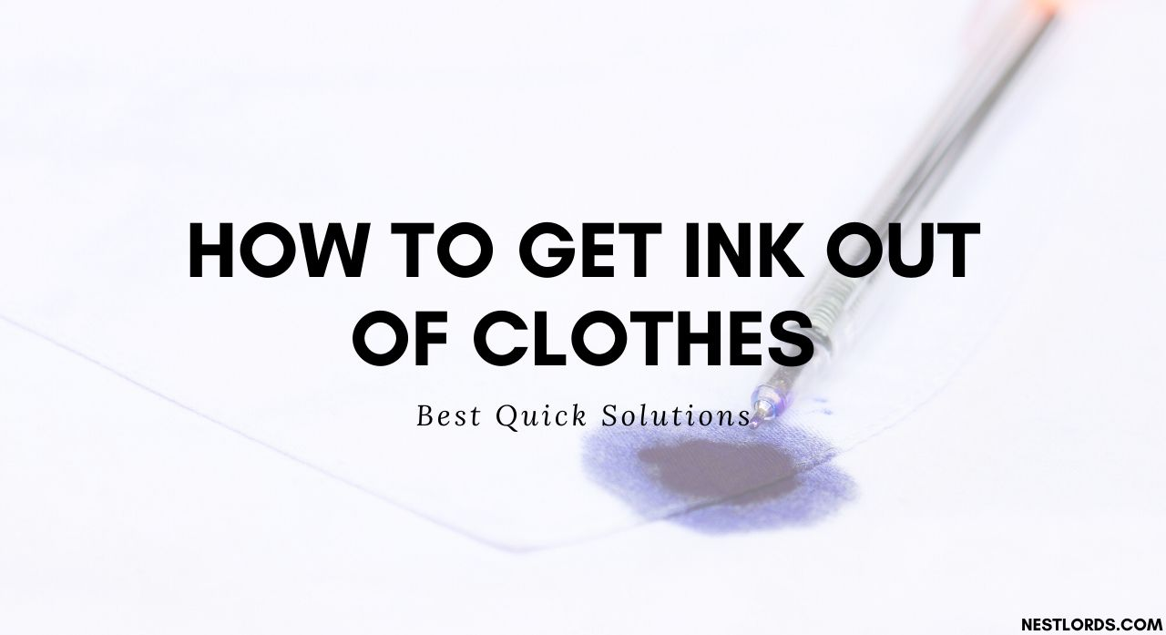 How to Get Ink Out of Clothes: Best Quick Solutions 1