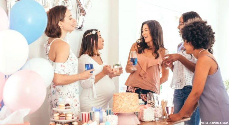 What is the average number of guests at a baby shower?